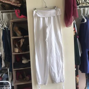 Guess Brand white lounge pants